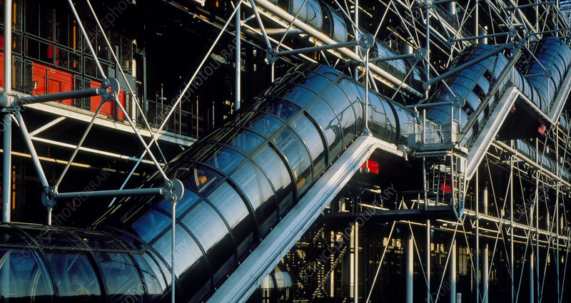 The Beaubourg or Georges Pompidou Centre, Paris