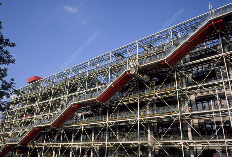 Exterior of Beauborg (Pompidou Centre) Paris