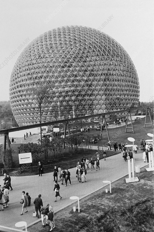 Buckminster Fuller's geodesic dome at EXPO '67