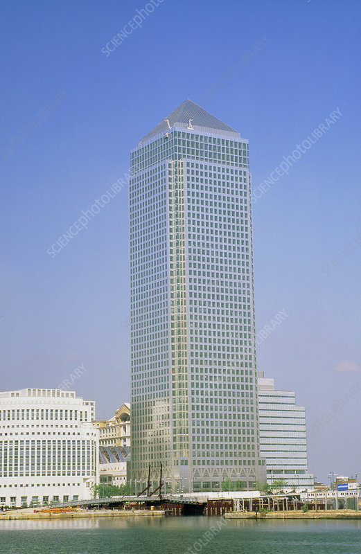 Canary Wharf tower, Docklands, London