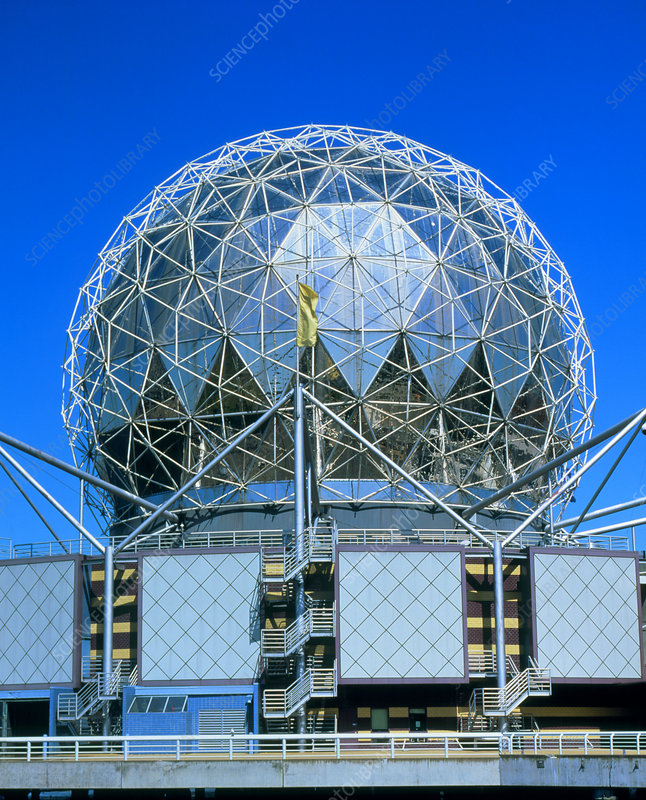 Geodesic dome of Vancouver Science World Centre