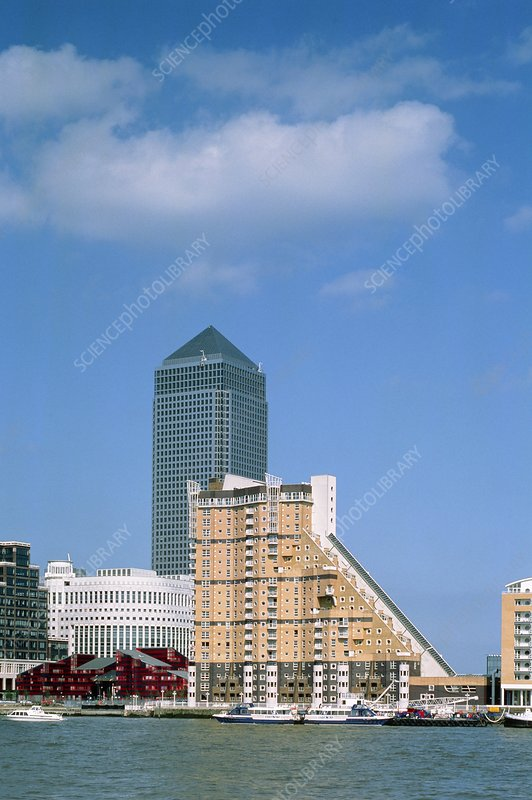 Canary Wharf and surroundings, Docklands, London