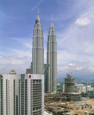 Petronas Towers, the world's tallest skyscraper