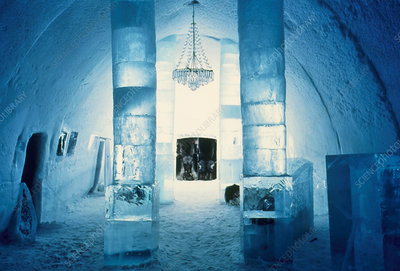 Ice Hotel foyer