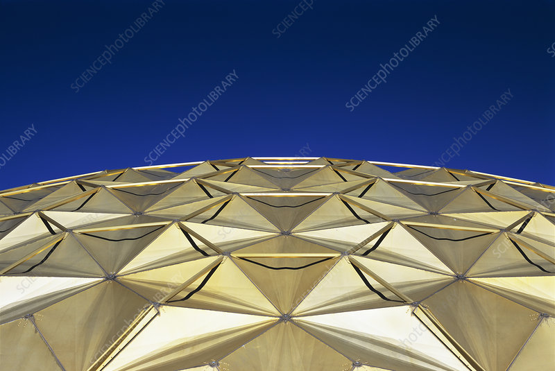 Geodesic dome roof