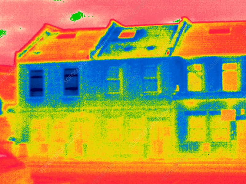 Houses, thermogram