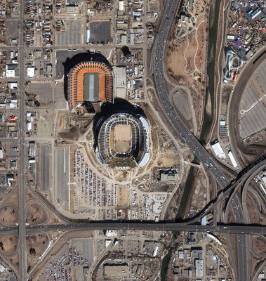 Sports stadiums, Denver, USA