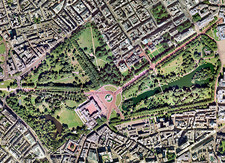 Buckingham Palace, UK, aerial image