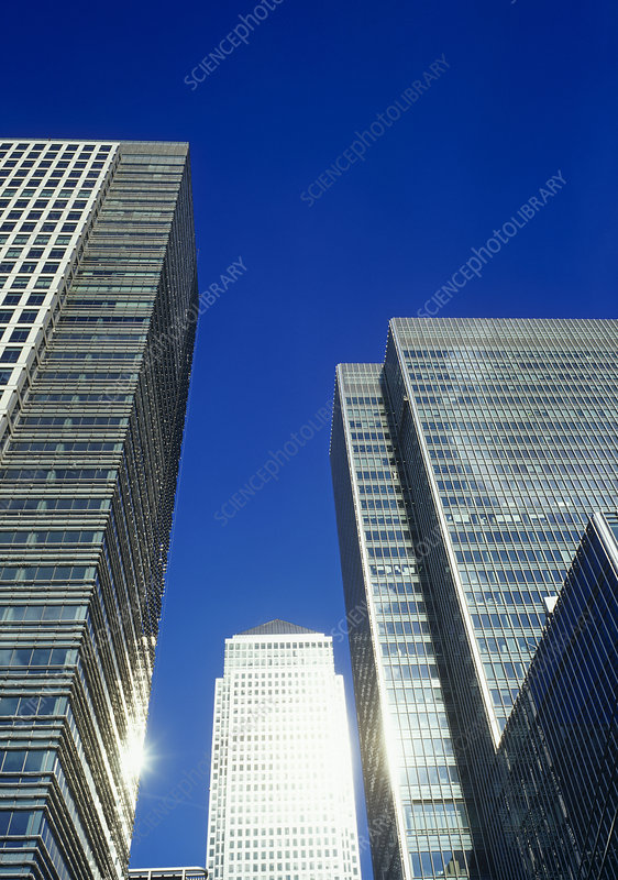 Skyscrapers in Canary Wharf