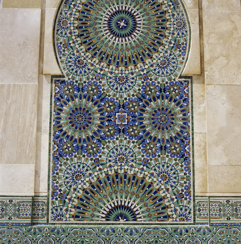 Moroccan mosaic at a mosque