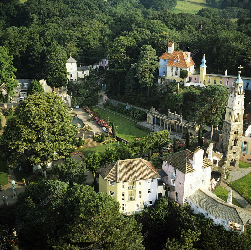 Portmeirion, aerial photograph
