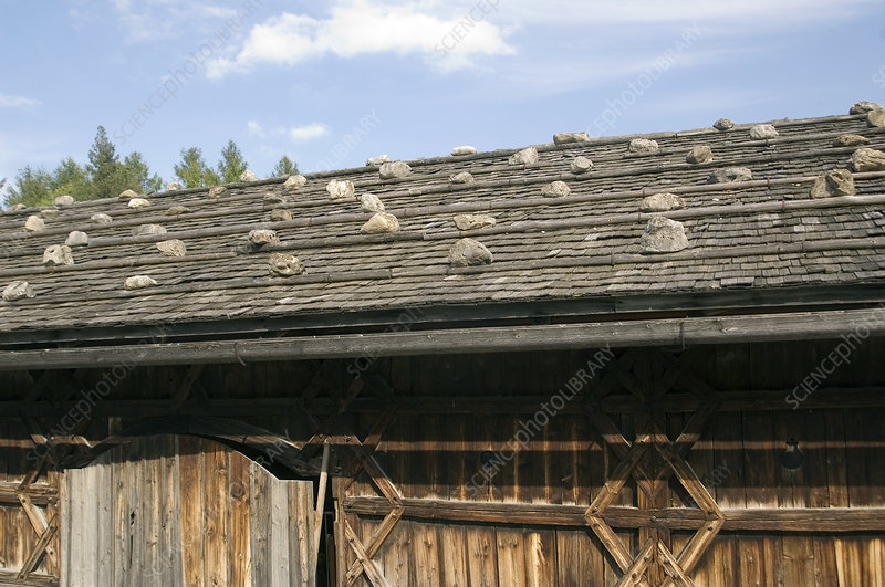Traditional Alpine roof