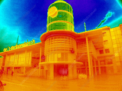 Train station, thermogram