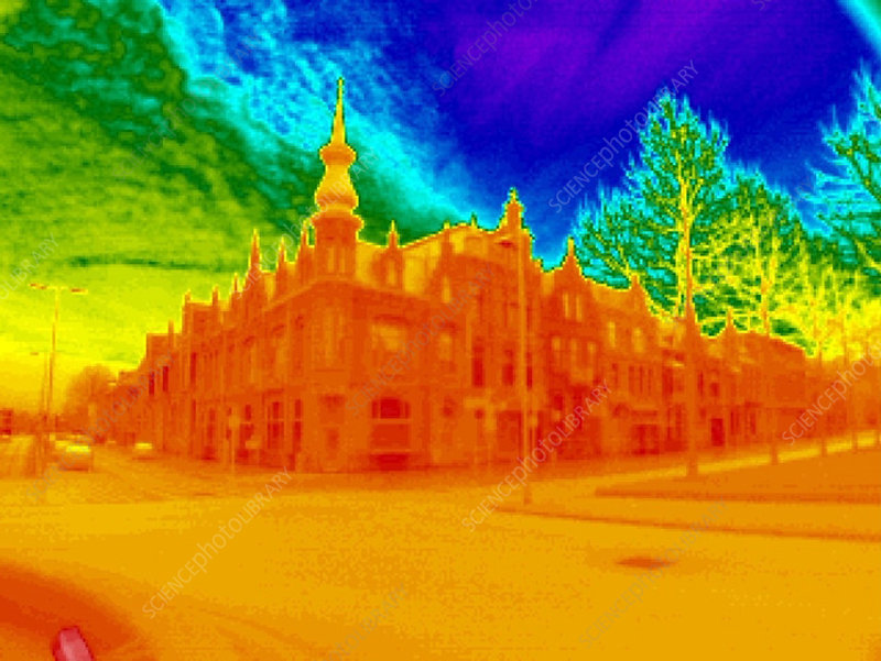 Street corner, thermogram
