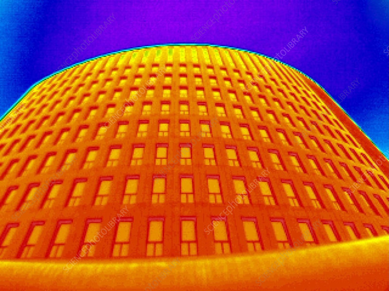 Office building, thermogram