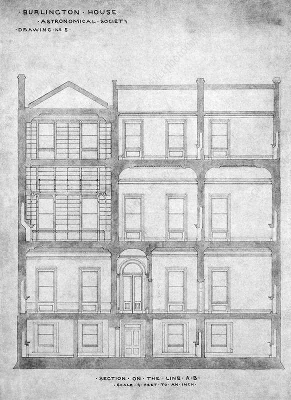 Burlington House architectural plans