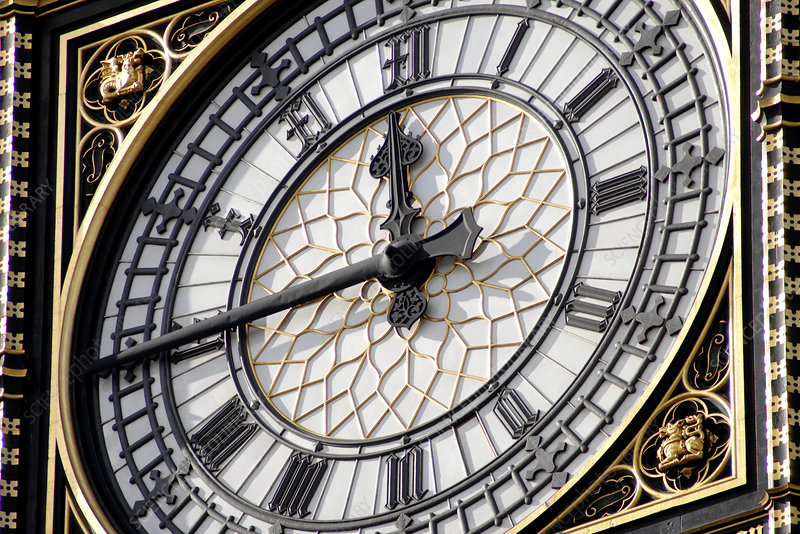 Big Ben clock face, London, UK
