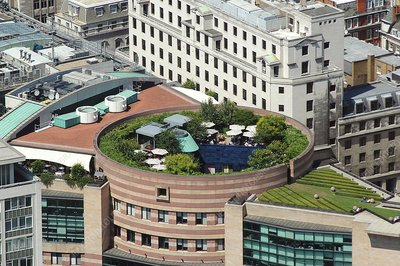 Roof garden, aerial photograph