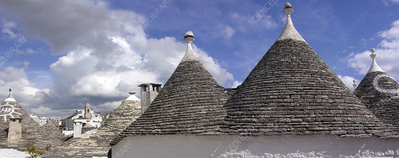 Trullo cottages, Italy