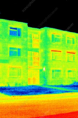Block of flats, thermogram