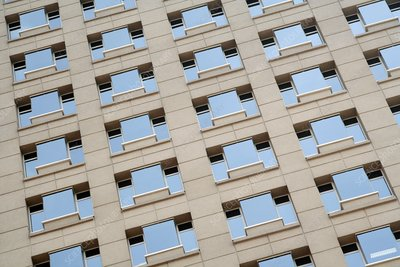 High-rise building windows