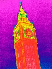 Big Ben, UK, thermogram
