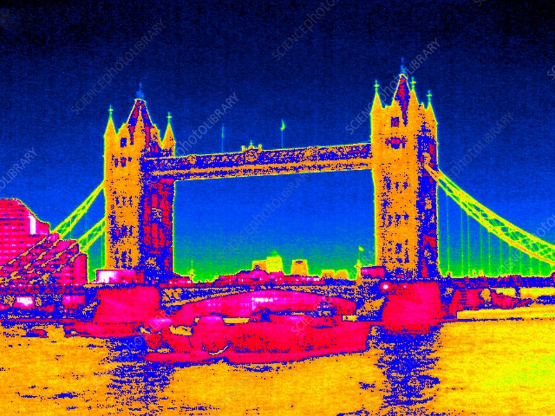 Tower Bridge, UK, thermogram