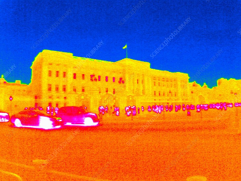 Buckingham Palace, thermogram