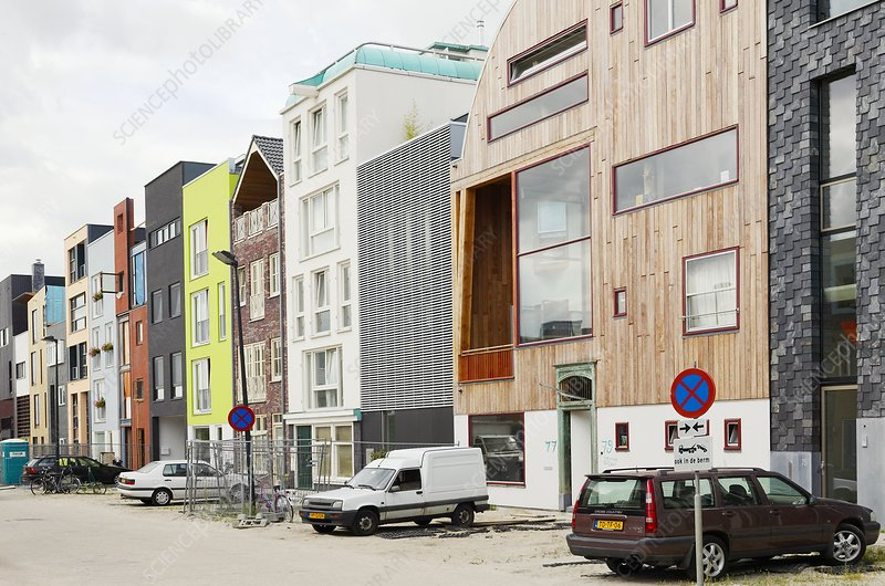 Eco-housing on reclaimed land, Amsterdam