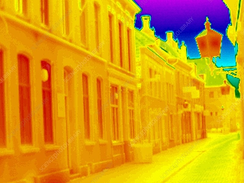 Terraced housing, thermogram
