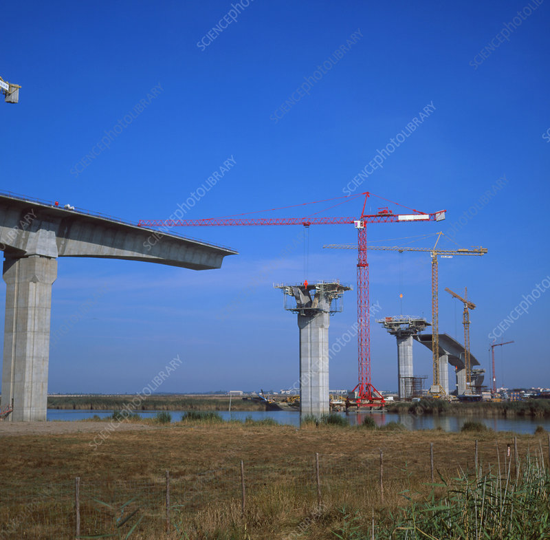 Construction of road bridge over R.Charente,France