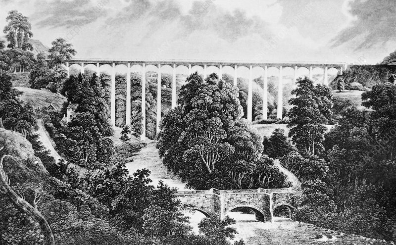 Illustration of the Ellesmere Canal aqueduct