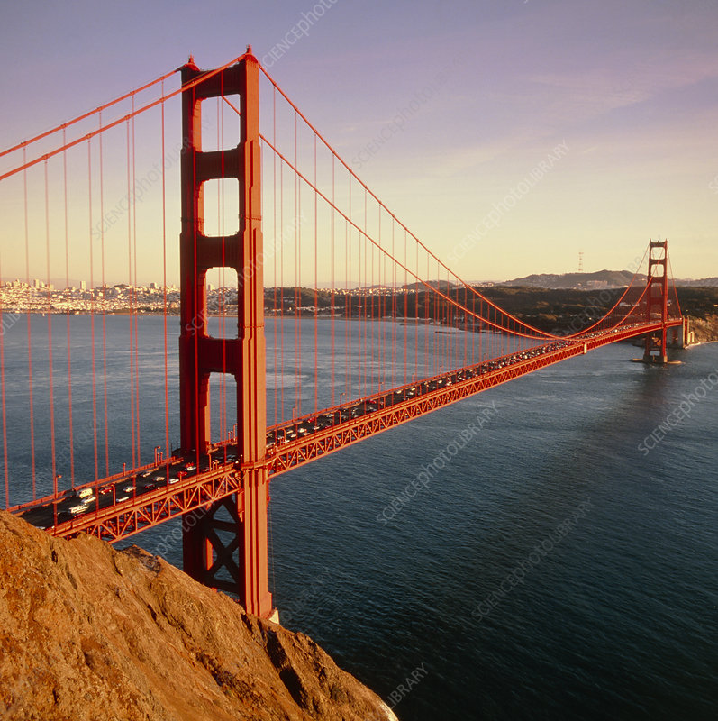 View of the Golden Gate Bridge, San Francisco Bay