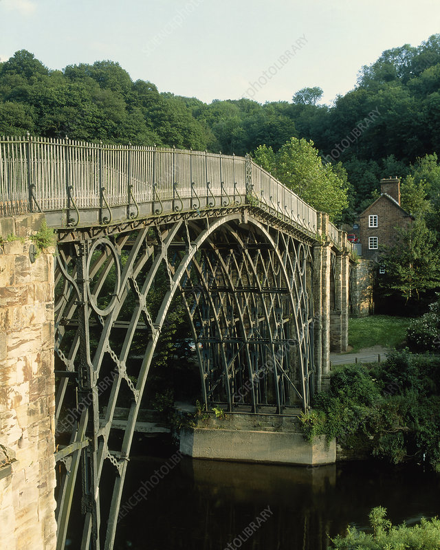 Iron bridge at Coalbrookedale over River Severn