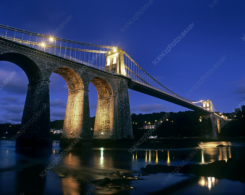 Menai Suspension Bridge, Wales, UK