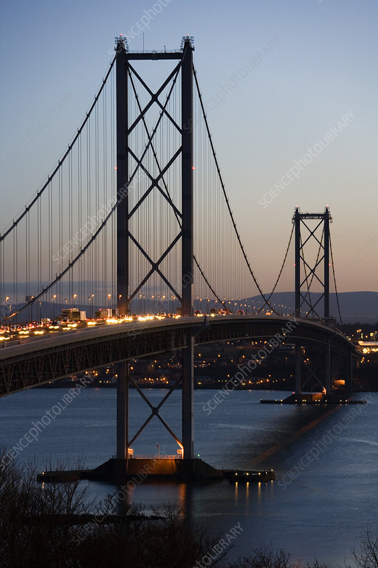Forth Road Bridge at sunset
