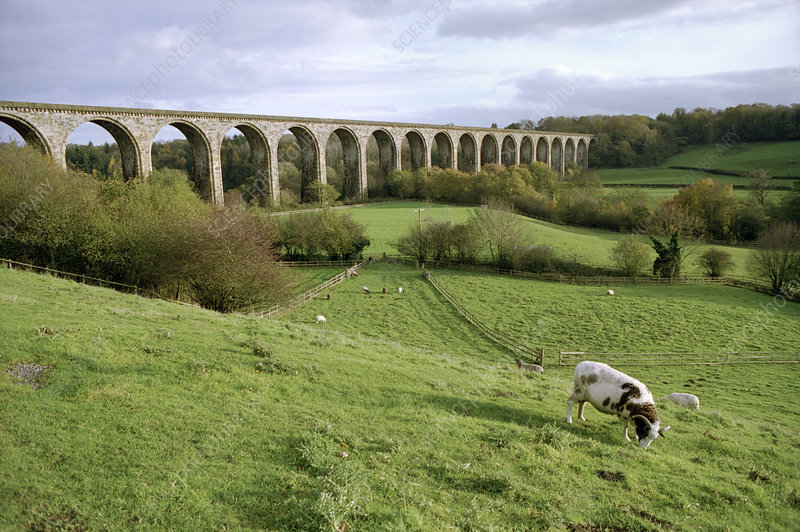 Chirk railway viaduct, Wrexham