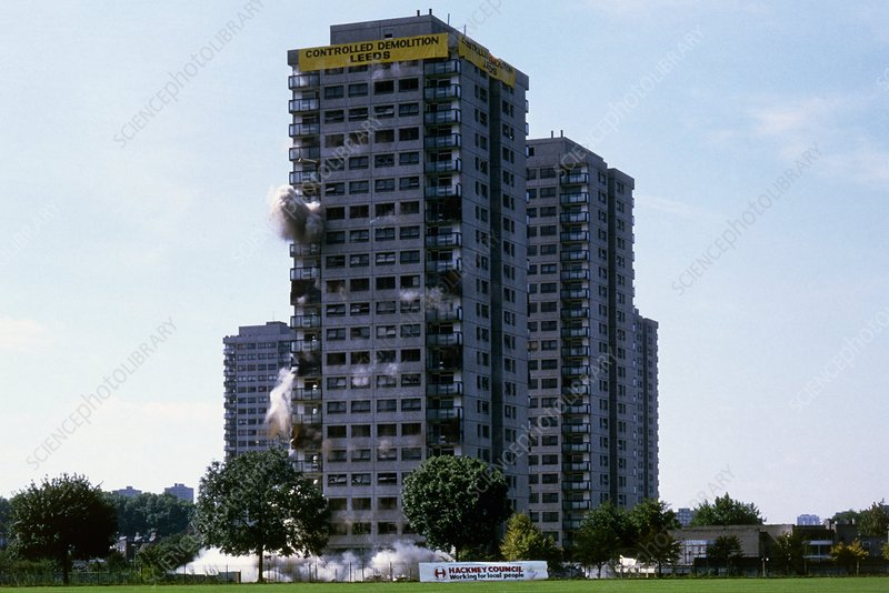 Highworth Point, a controlled demolition