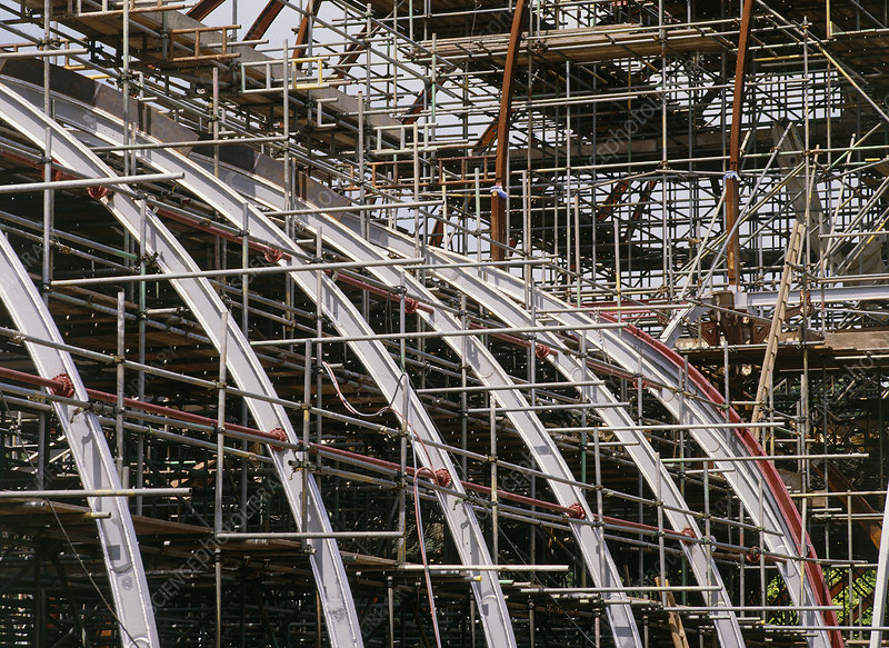 Scaffolding at Palm House , Kew Gardens