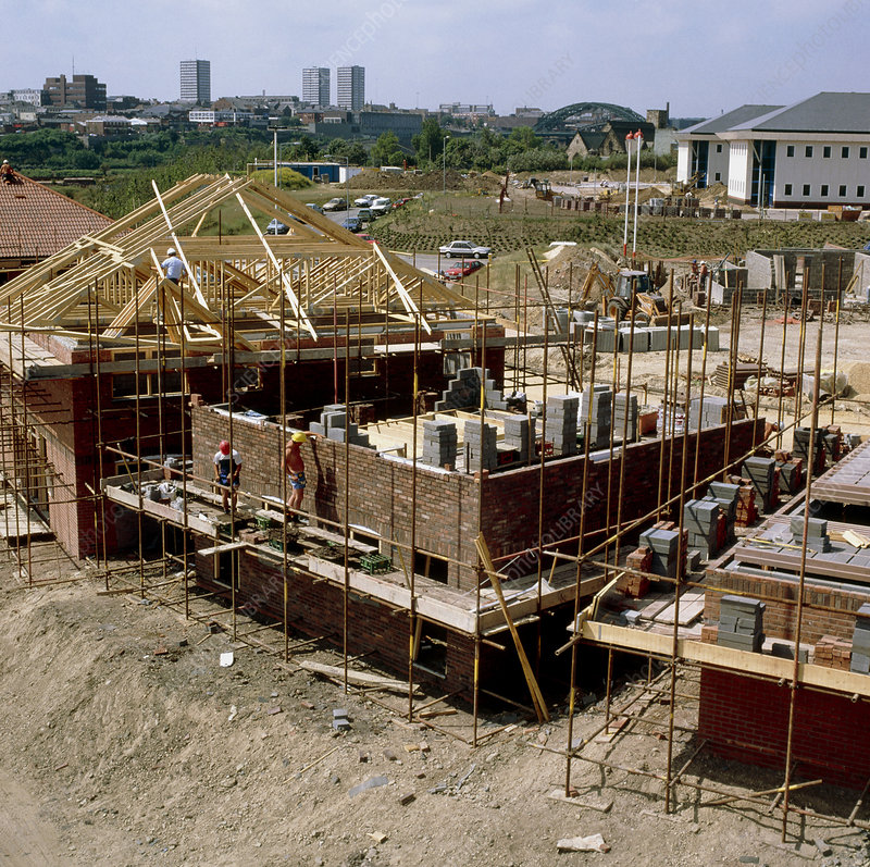 Building site for construction of new houses