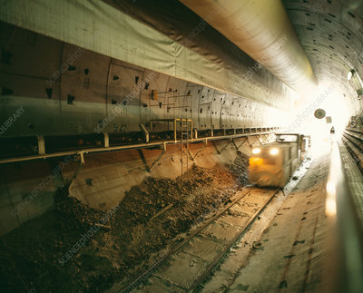 Channel Tunnel Rail Link construction