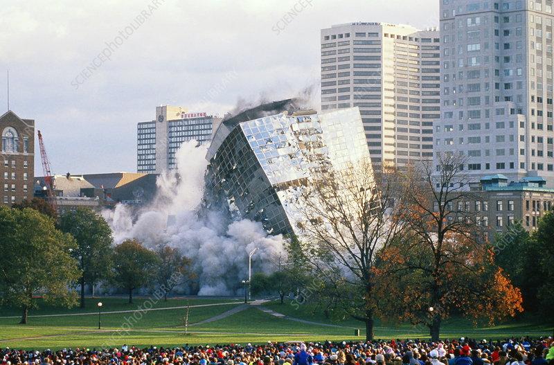 Demolition Of Science : Hotel demolition stock image t  science photo