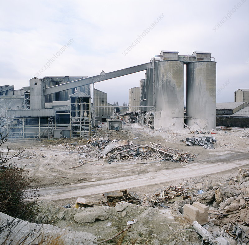 Demolition Of Science : Demolition of cement works stock image t