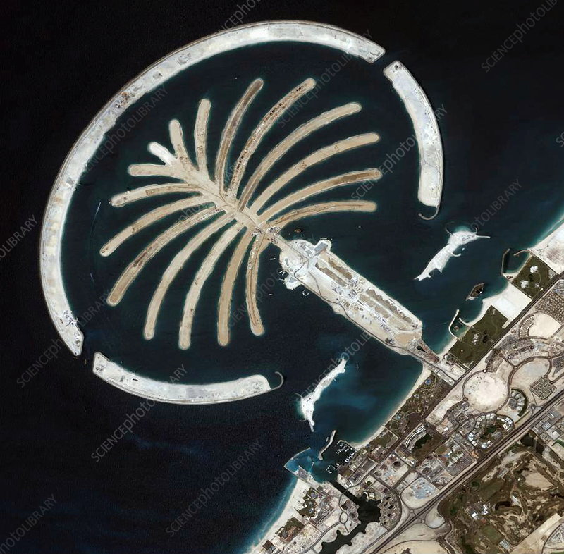 Palm Islands construction, Dubai