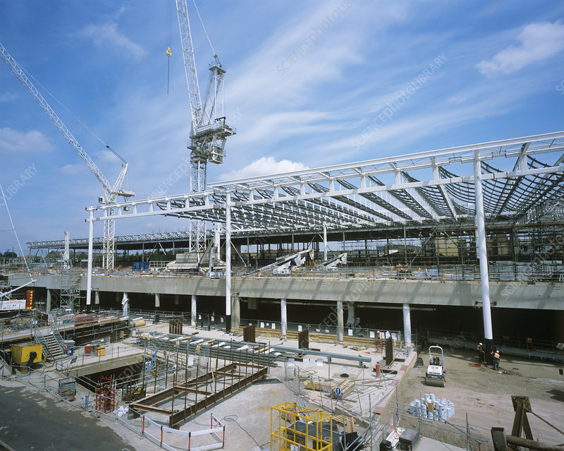 St Pancras construction site