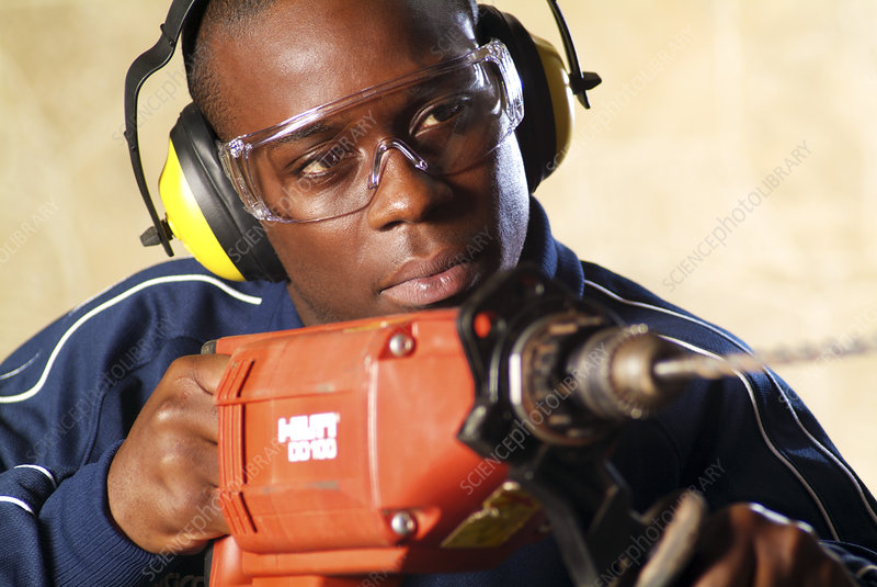 Using an electric drill