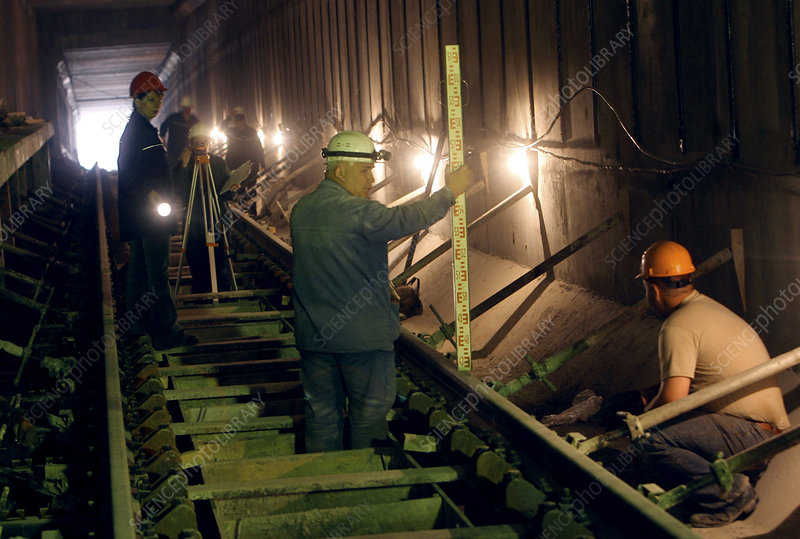 Underground railway construction work