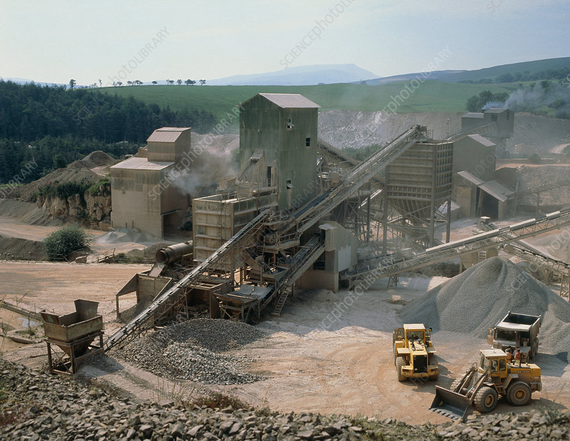 Limestone quarrying in Cumbria, UK