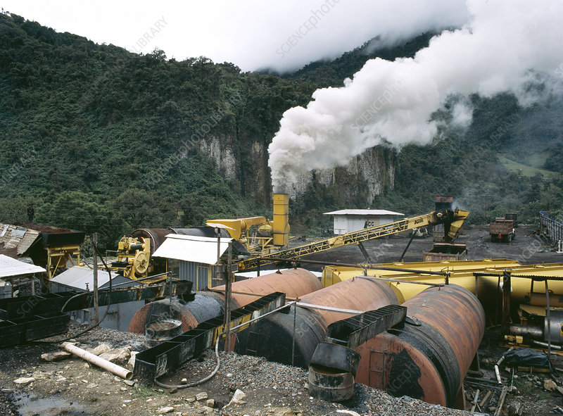 Rock-crushing plant