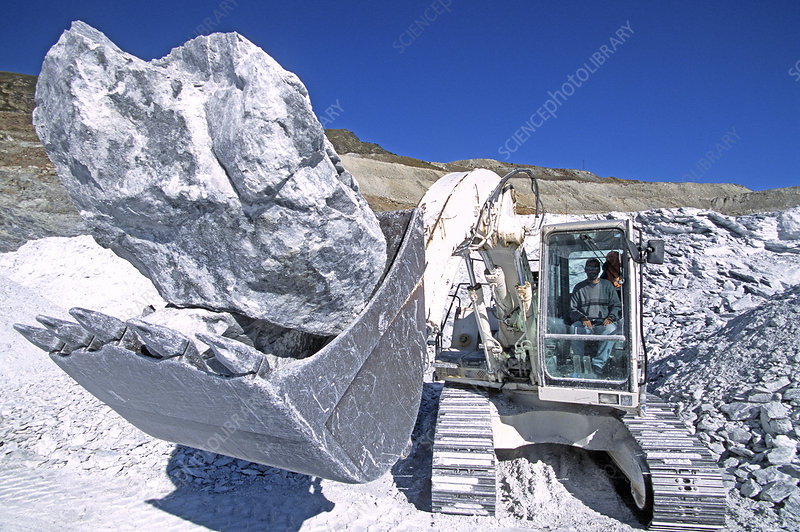 Talc quarrying machine